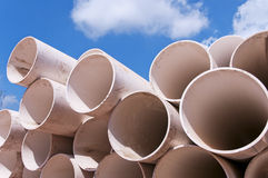 Tubo plástico Fotografía de archivo libre de regalías