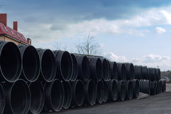 Tubo, plástico, grande, diámetro, enorme Imagenes de archivo