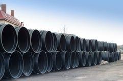 Tubo, plástico, grande, diámetro, enorme Fotografía de archivo