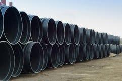 Tubo, plástico, grande, diámetro, enorme Imagen de archivo libre de regalías