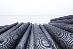 Tubo plástico industrial Fotos de archivo libres de regalías