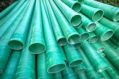 Tubo plástico industrial Imagen de archivo