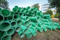 Tubo plástico industrial Fotografía de archivo