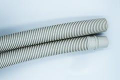 Tubo plástico isolado no fundo branco foto de stock royalty free