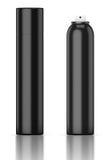 Tubo preto Desodorizante, pulverizador de cabelo, pulverizador, refrogerador de ar Fotografia de Stock