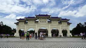 Tubo principal de Liberty Square de Chiang Kai-Shek Memorial Hall en Taipei, Taiwán metrajes