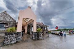 Tubo principal de sept 20,2017 en el aeropuerto de Basco, Batanes Fotos de archivo libres de regalías