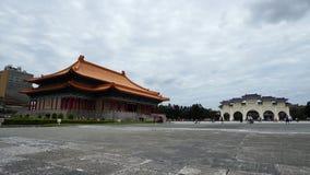 Tubo principal del teatro nacional Pasillo y de Liberty Square de Chiang Kai-Shek Memorial Hall en Taipei, Taiwán metrajes