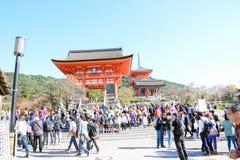 Tubo principal del templo de Kiyomizu, Kyoto Fotografía de archivo libre de regalías