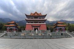 Tubo principale del tempio di Chongsheng il tempio di tre pagode, Dali, Cina, Immagine Stock