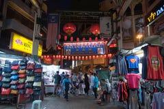 Tubo principale di Chinatown alla via di Petaling Fotografia Stock