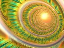 Tubo psichedelico metallico Fotografia Stock