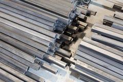 Tubo quadrado do metal Fotografia de Stock