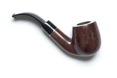 Tubo que fuma clásico, en blanco Fotografía de archivo