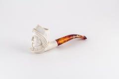 Tubo que fuma de marfil tallado Imagen de archivo libre de regalías