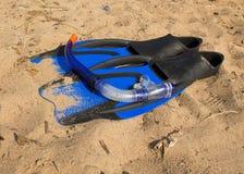 Tubo respirador de la natación Imagen de archivo