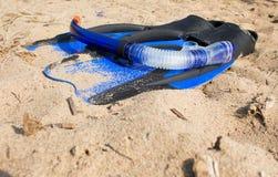 Tubo respirador de la natación Fotos de archivo libres de regalías