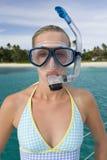 Tubo respirador - paraíso tropical de la isla de las vacaciones Fotos de archivo
