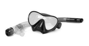 Tubo respirador y máscara para el salto Imágenes de archivo libres de regalías