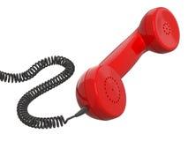 Tubo rojo retro del teléfono Imágenes de archivo libres de regalías