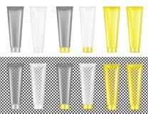 Tubo transparente plástico Empaquetado para los cosméticos y la crema dental libre illustration