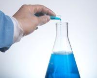 Tubo y frasco de prueba Imagen de archivo libre de regalías