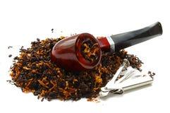 Tubo y tabaco Imagenes de archivo