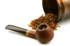 Tubo y tabaco imagen de archivo