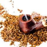 Tubo y tabaco Foto de archivo