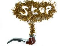Tubo y tabaco de madera Imagen de archivo libre de regalías