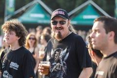 Ανεμιστήρες στο πράσινο φεστιβάλ Tuborg Στοκ εικόνα με δικαίωμα ελεύθερης χρήσης