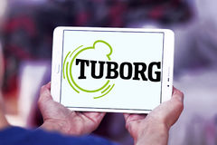 Tuborg beer logo. Logo of beer drinks company tuborg on samsung tablet Royalty Free Stock Images