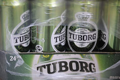 TUBORG-BIER Lizenzfreies Stockbild