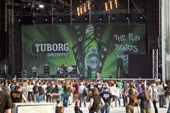 Tuborg Fest verde Fotografía de archivo