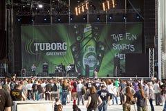 Tuborg grünes Fest Stockfotografie