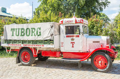 Tuborg retro car Royalty Free Stock Photo