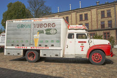 Tuborg retro car Stock Photo