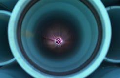 Tubos 6 de la turquesa Fotografía de archivo