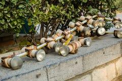 Tubos abandonados Foto de archivo libre de regalías