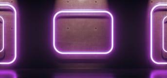 Tubos abstratos dos retângulos da luz de néon Imagem de Stock
