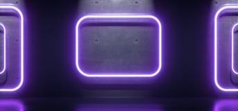 Tubos abstratos dos retângulos da luz de néon Foto de Stock