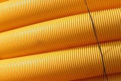 Tubos amarillos Foto de archivo libre de regalías