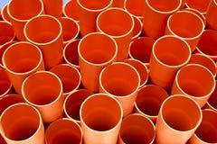 Tubos anaranjados fotos de archivo