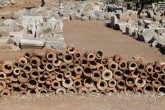 Tubos antiguos del alcantarillado Imagen de archivo