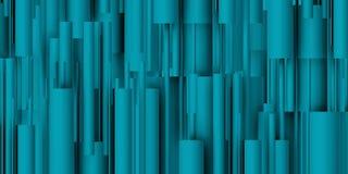 Tubos azuis na composição vertical Fotos de Stock Royalty Free