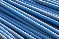 Tubos azules Fotos de archivo libres de regalías