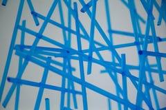 Tubos azules de cristal Foto de archivo