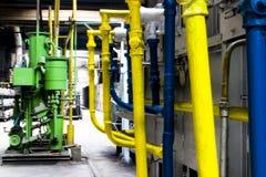 Tubos coloreados multi de la fábrica Imagen de archivo libre de regalías