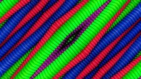 Tubos coloridos en diagonal imagenes de archivo
