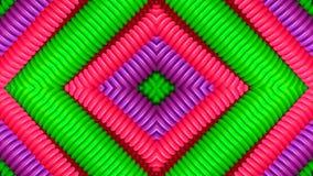 Tubos coloridos en la forma de un rombo ilustración del vector